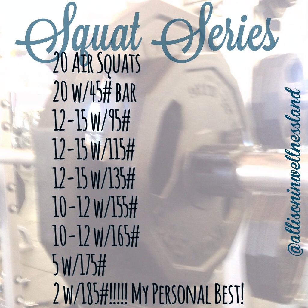 Squat Squat Squat!!! Working on those squats!