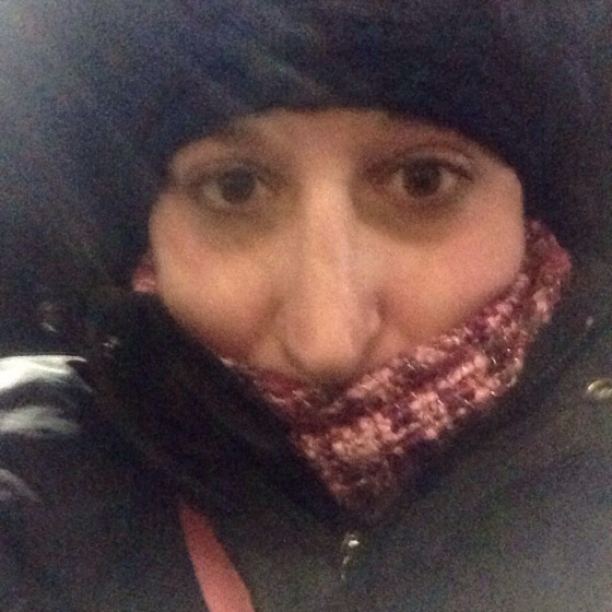 all bundled up bright and cold!