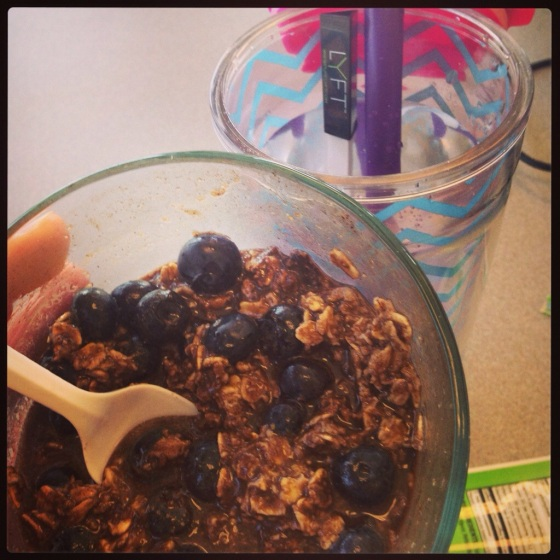 PureLyft with a side of chocolate oats!