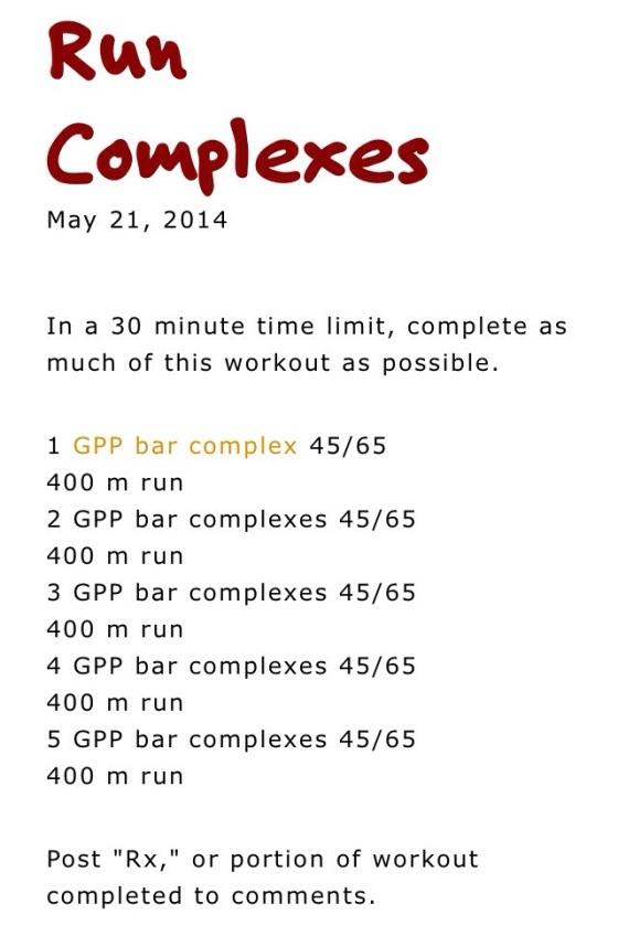 Run Complexes