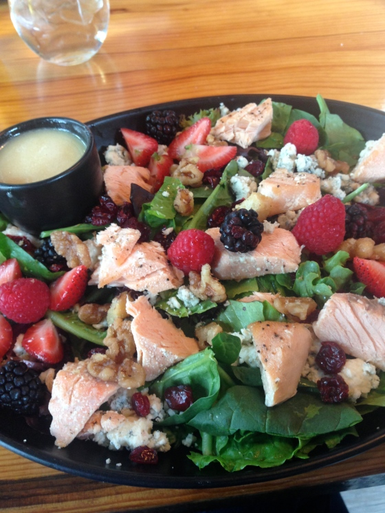 Poached Salmon Salad!