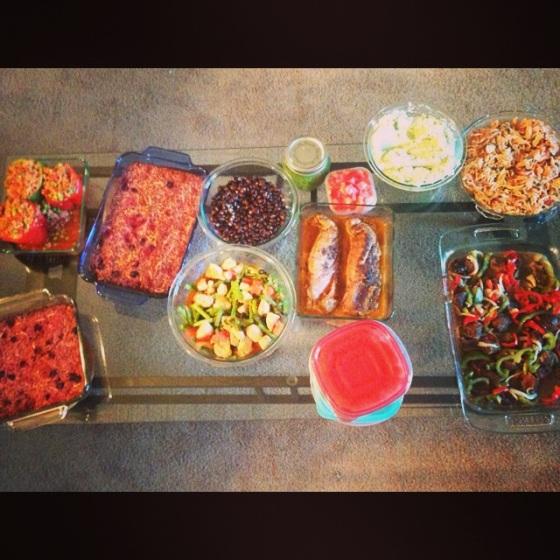marathon food prep complete!!! So Much food!