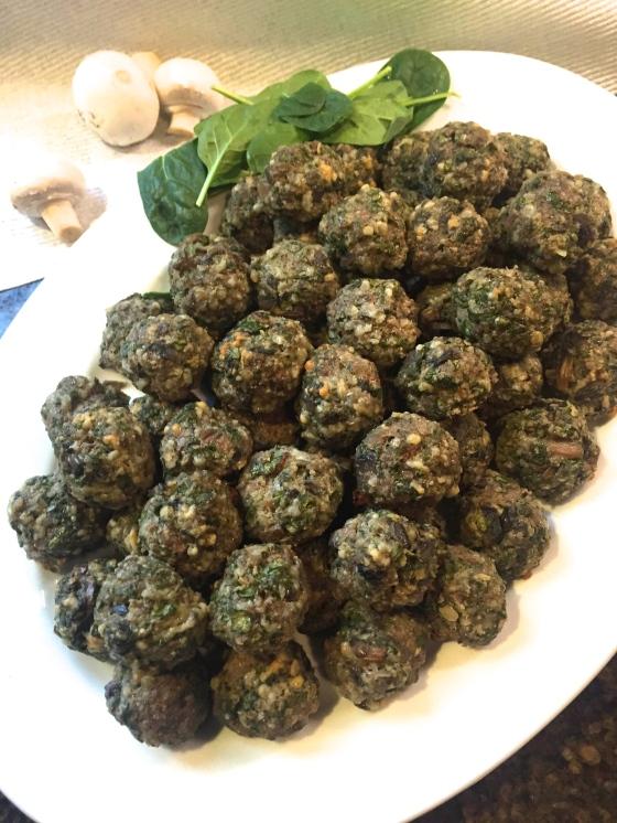 Spinach & Mushroom Meatballs