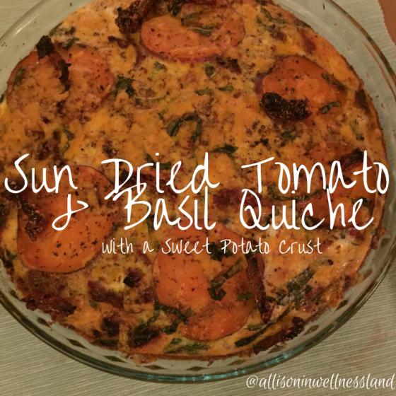 Sun Dried Tomato & Basil Quiche